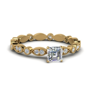 Art Deco Diamond Eternity Wedding Ring