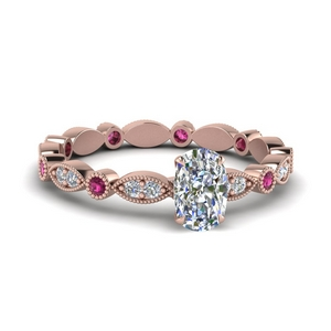 Eternity Pink Sapphire Ring