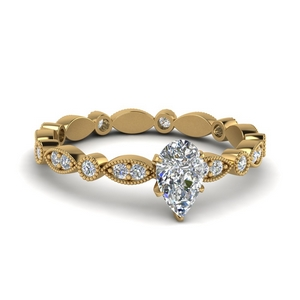 Gold Art Deco Eternity Ring