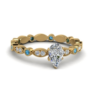 Pear Shaped Eternity Diamond Ring
