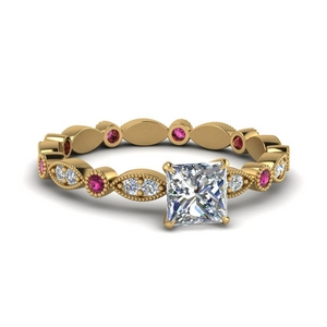 marquise-dot-eternity-princess-cut-engagement-ring-with-pink-sapphire-in-FD8641PRRGSADRPI-NL-YG