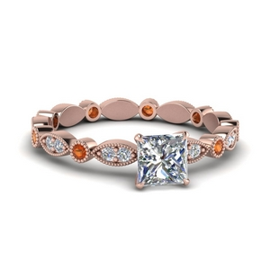 14K Rose Gold Eternity Engagement Ring