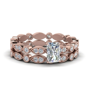 Marquise Dot Eternity Wedding Set