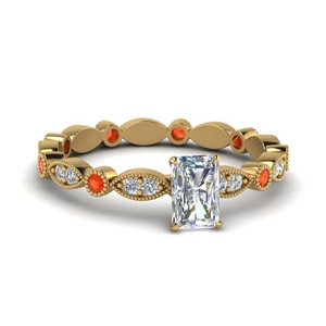 Eternity Ring With Orange Topaz