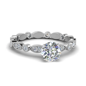 Marquise Dot Eternity Diamond Ring