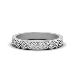 Womens Vintage Eternity Band