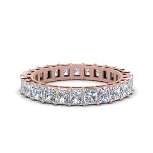 Rose Gold Eternity Band 2 Carat