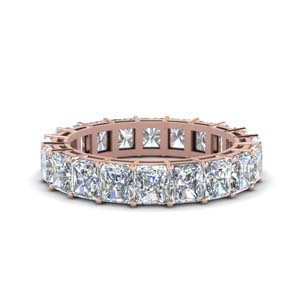 6 Carat Radiant Diamond Eternity Ring