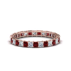 1.50 Carat Ruby Eternity Band