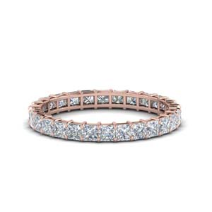 Rose Gold Princess Cut Band