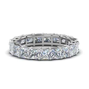 Princess Cut Eternity Rings
