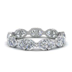 Platinum Beautiful Diamond Band