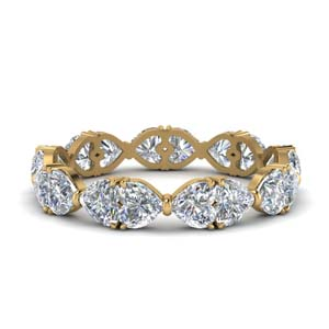 18K Gold Eternity Band For Women