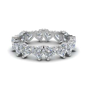 beautiful heart diamond eternity band 4 carat in FDEWB8860 NL WG