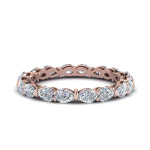 Pear Diamond Eternity Band