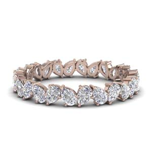 1.30 Ct. Pear Diamond Eternity Band