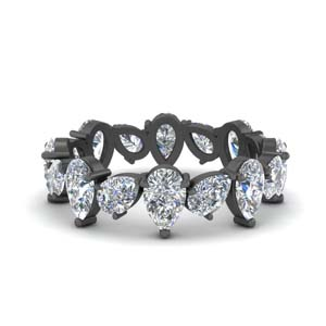 14K Black Gold 3.20 Ct. Diamond Band