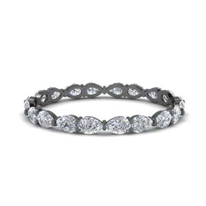 1 Ct.Pear Diamond Eternity Band