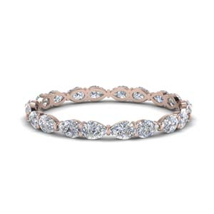 East West Pear Eternity Band