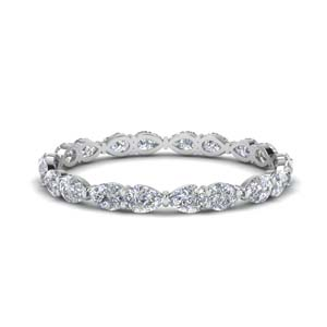 1 Carat East West Pear Eternity Band