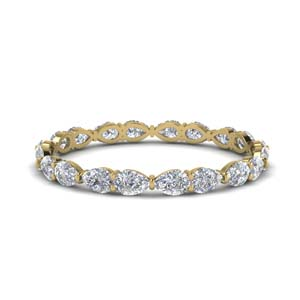 1 Ct. East West Pear Eternity Band