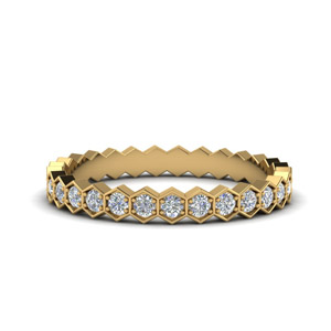 Hexagon Eternity Band