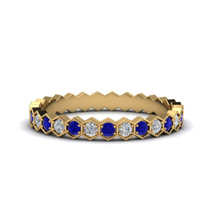 Sapphire And Diamond Eternity Bands