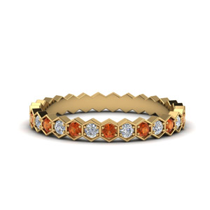 hexagon-diamond-eternity-wedding-band-with-orange-sapphire-in-FDEWB9190GSAOR-NL-YG