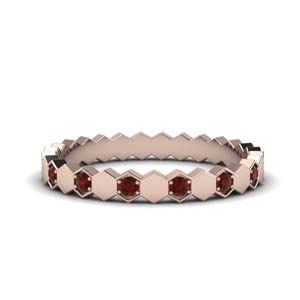 18k Rose Gold Ruby Eternity Band