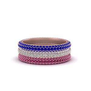 Micro Pave Gemstone Stacking Band
