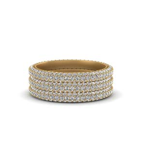 Trio Micro Pave Diamond Band