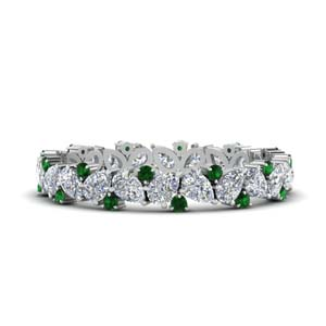 1.50-ct.-pear-eternity-diamond-band-with-emerald-in-FDEWB9203GEMGR-NL-WG