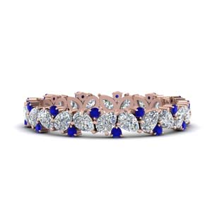 1.50 Ct. Pear Eternity Sapphire Band