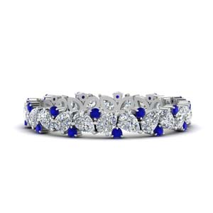 1.50 Ctw. Pear Eternity Sapphire Band