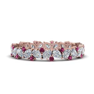 1.50 Ct. Pink Sapphire Eternity Band