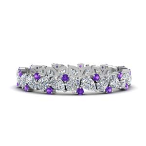 purple Topaz 1.50 Carat Eternity Band