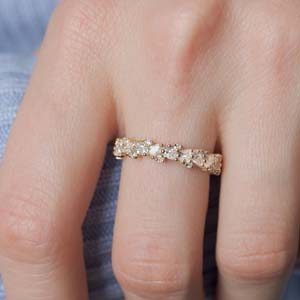 1.50 Ct. Pear Diamond Eternity Band