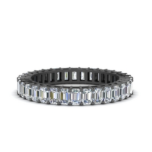 3.50 Ct. Diamond Black Gold Wedding Band
