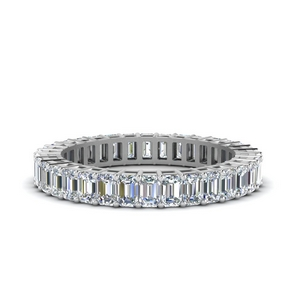 Emerald Cut Eternity Wedding Band