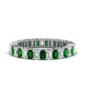 Baguette Eternity Wedding Band