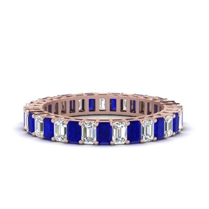 Baguette Eternity Sapphire Band