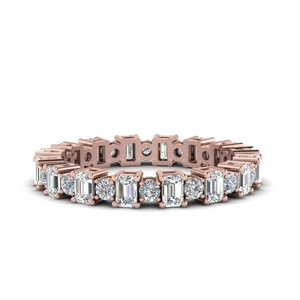 Alternating Diamond Eternity Band