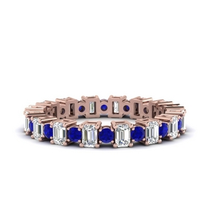 Rose Gold Sapphire Eternity Band
