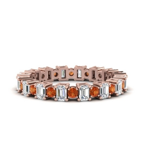 Eternity Band With Orange Sapphire