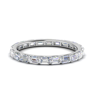 Thin Emerald Cut Eternity Ring