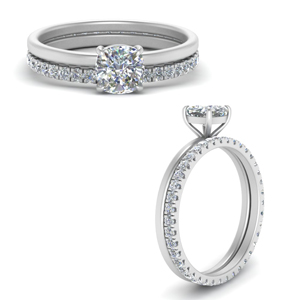 Cushion Cut Wedding Rings & Bands