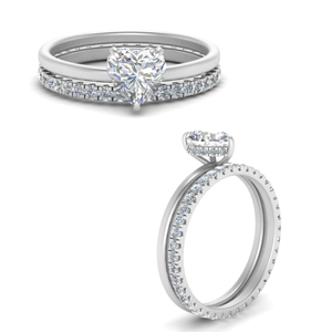 Under Halo Ring With Diamond Band
