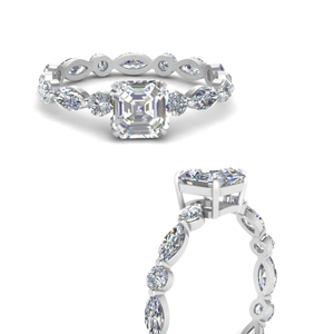 marquise-and-round-eternity-asscher-cut-diamond-engagement-ring-in-FDEWB9398ASRANGLE3-NL-WG