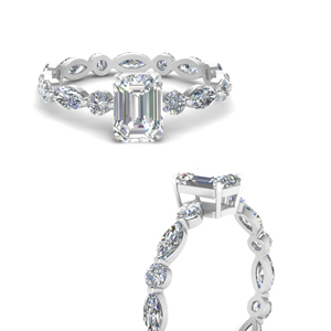 Emerald Cut Eternity Engagement Ring