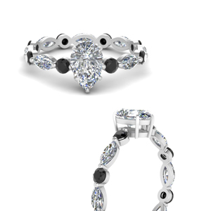 marquise-and-round-eternity-pear-shaped-engagement-ring-with-black-diamond-in-FDEWB9398PERGBLACKANGLE3-NL-WG